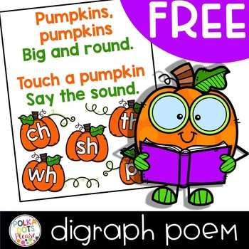 FREE Pumpkin Digraph Poem
