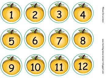 {FREE} Pumpkin Muffin Tin Labels Numbers 1-12