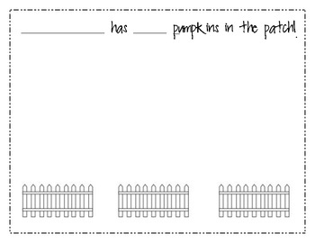 {FREE} Pumpkin Patch Math + Literacy Page