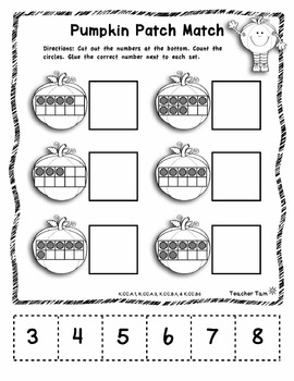FREE Pumpkin Patch Game: Number to Quantity Matching