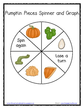 FREE Pumpkin Pieces Spinner and Graph for Math