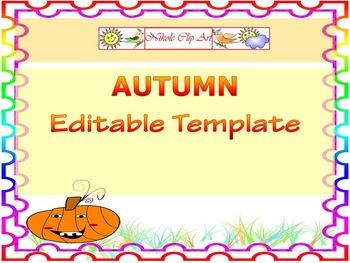 Halloween Activities - Pumpkins - Fall - Editable Powerpoint template