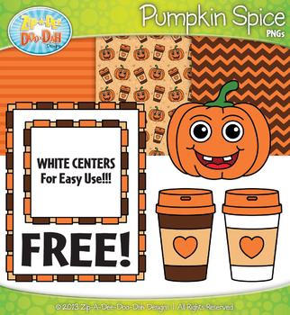 FREE Pumpkin Spice Latte Clipart & Papers Set {Zip-A-Dee-Doo-Dah Designs}