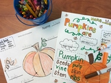 FREE Pumpkin Vocabulary Trace and Color/ Parts of a pumpkin