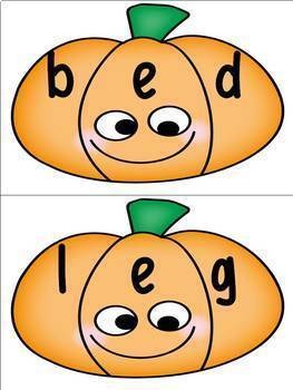 FREE Pumpkin Word Building Activity