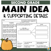 FREE Pumpkins 2nd Grade Main Idea and Details Reading Comprehension