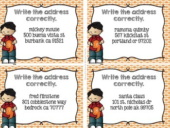 FREE Punctuating Addresses Task Cards