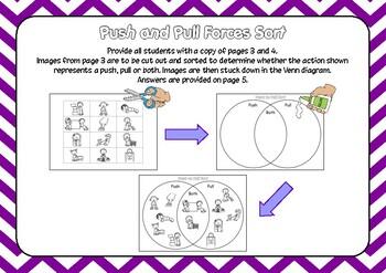 FREE Push and Pull Venn Diagram Sort