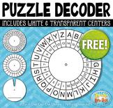 FREE Puzzle Decoder Template Set {Zip-A-Dee-Doo-Dah Designs}