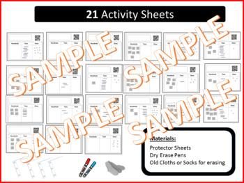 FREE - QR Code Base 10 Activity Sheets