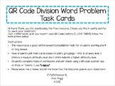 QR Code Division Word Problem Task Cards