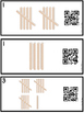FREE QR Code (Optional) Tally Mark Task Cards 1-20 Popsicle Sticks