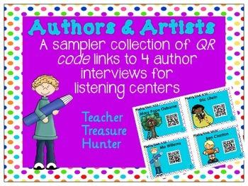 FREE QR Code Sampler Pack - 4 Author Interviews ~ listenin