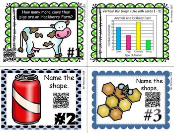 FREE QR Code Task Cards Math Sample Pack 16 Different Skills Video Demonstration