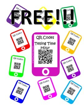 FREE!!! QR Telling Time - Hour Intervals