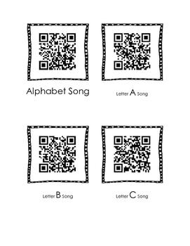 FREE QR codes Alphabet Songs