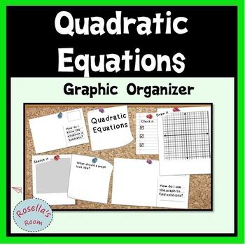 FREE Quadratic Equations Graphic Organizer