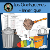 Quehaceres Locos- Mixed Up Chores in Spanish, Tener Que + Infinitive