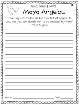 (FREE) Quick Quotations: Maya Angelou