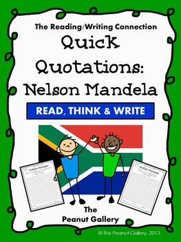 (FREE) Quick Quotations: Nelson Mandela