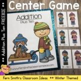 Winter Math Center Addition Plus Ten Freebie