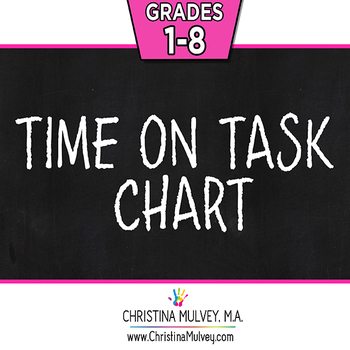 Free Quick And Easy Basic Time On Task Student Behavior Chart | Tpt