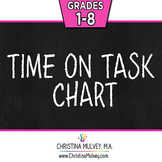 FREE Quick and Easy Basic Time on Task Student Behavior Chart