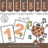 Kindergarten Number Flashcards 0 to 10 Freebie