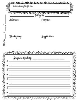 FREE Quiet Time Journal Pages