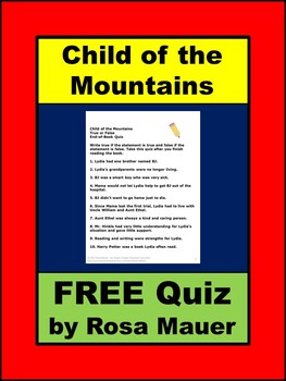FREE Quiz Child of the Mountains