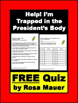 FREE Quiz Help! I'm Trapped in the President's Body