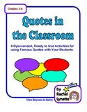 Famous Quotes Worksheets Distance Learning