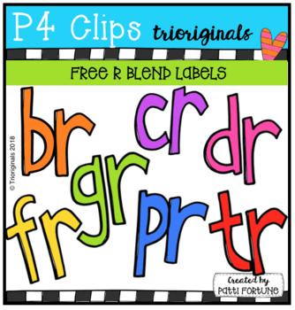 FREE R Blend Labels (P4 Clips Trioriginals)