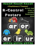 FREE R-Control Posters - chalkboard theme