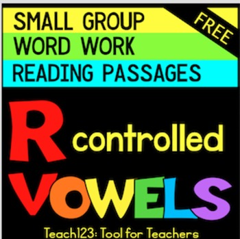 R Controlled Vowels Word Work Reading Passage ABC Order - OR