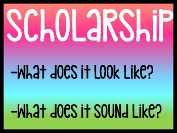 FREE R.I.S.E & PBIS Posters (Rainbow/Colorful)