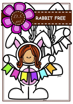 FREE - RABBIT  Digital Clipart (color and black&white)