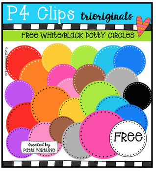 FREE  RAINBOW Circle Dots {P4 Clips Triorignals Digital Clipart}