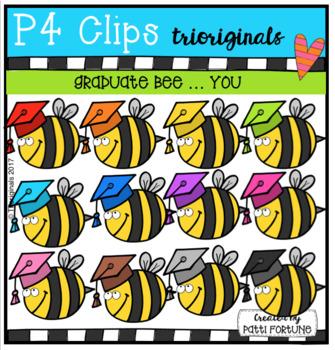 FREE RAINBOW Graduate BEE YOU (P4 Clips Trioriginals Clip Art)