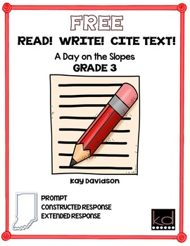 FREE READ!  WRITE!  CITE TEXT!  A Day on the Slopes GR3