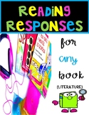 READING RESPONSES FOR ANY TEXT~ ONE PAGER!