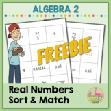 Real Numbers Sort and Match Activity FREEBIE (Algebra 2 - Unit 1)