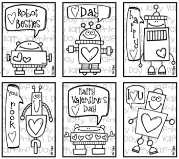 FREE ROBOT Valentine's Day Cards (Created by P4 Clips Trioriginals)