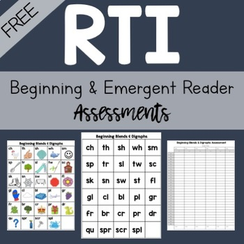 FREE RTI Assessments for Beginning and Emergent Readers