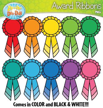 FREE Rainbow Award Ribbons Clipart {Zip-A-Dee-Doo-Dah Designs}