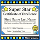 Super Star Award Certificates ~ Promote Positive Behavior in Your Classroom!