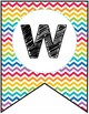 FREE Rainbow Chevron Classroom Welcome Banner