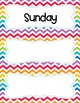 Chevron Days Of The Week Cards - FREEBIE!