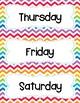 FREE Rainbow Chevron Days Of The Week Cards