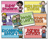 FREE Rainbow Chevron Labels and Clip Chart
